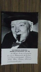 Sir Winston Churchill -Member of Parliament Valentine Postcard 1965 Unposted