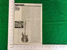 Aria RS850 Guitare Électrique Vintage Fiction/article janvier 1980 R.S 850 L.R.