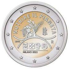 MONETA 2 EURO 2015 ITALIA WORLD EXPO MILANO