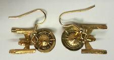 Star Trek Classic Enterprise 1701 Gold Pierced Earrings w Deluxe Lucite Box
