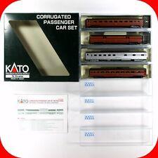 N Scale PRR PENNSYLVANIA Corrugated Passenger Car 4-Pack Set ----- KATO 106-1701