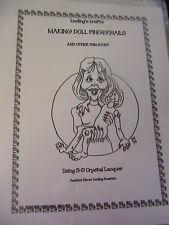 MAKING DOLL FINGERNAILS~use on eyes~lips~eyeglasses~BARB KEELING~for cloth dolls