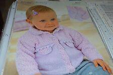 Sirdar Knitting Pattern 1613 Snuggly Bubbly Jacket 0-6 yrs