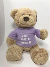 "Gund Bear Purple T-Shirt Bff Best Friend Forever Collectible Plush Tan 13"""