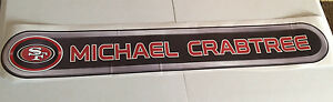 """Michael Crabtree FATHEAD Official Name Banner 45"""" x 7"""" 49ers ALMOST 4 FEET LONG!"""