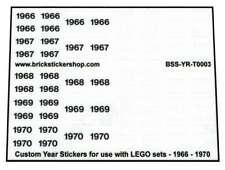 Custom Jaar Stickers voor gebruik met LEGO sets - 1966 - 1970