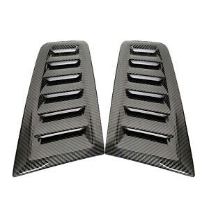 For Ford Focus RS ST MK2 style ABS plastic bonnet vents Hood Trim Carbon Fiber