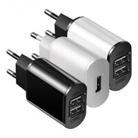 5V 2A EU Plug USB 1/2 Port Fast Charger Mobile Phone Wall Travel Power Adapter