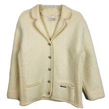 Sigi Scheiber Austria Jacket Size M Ivory Boiled Wool Classic Tirolian Style