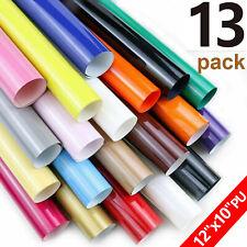 12x Htv Bundle Sheets 12x10 Heat Transfer Vinyl Iron T Shirts 9 Assorted Colors