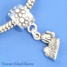 SHIH TZU DOG BREED .925 Solid Sterling Silver EUROPEAN EURO Dangle Bead Charm