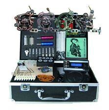 New Complete Tattoo Kit Top power Gun Needles Skin Tip 4 machine quality set