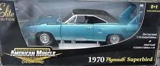 1970 Plymouth Superbird Blue Fire Poly 1:18 Ertl American Muscle 39399