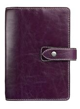 Filofax Malden Purple Pocket Size Organiser Diary Deluxe Buffalo Leather 425849