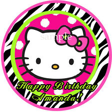 HELLO KITTY Edible ICING Image Birthday CAKE Topper Decoration Free Shipping