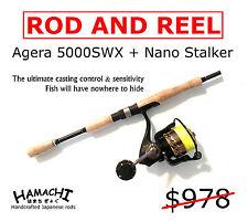 HAMACHI Agera 5000 Spin reel + Nano Stalker Rod + 20lb Braid Snapper Barra Tuna
