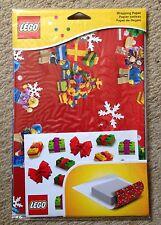 LEGO Natale/NATALE CARTA DA REGALO 2 FOGLI (70x100cm) & Adesivi Nuovo