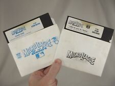 2 Vintage MicroLeague Baseball Lot ATARI 1984 & 1985 MLB 5 1/4 Floppy disks
