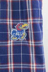 Kansas Jayhawks Mens plaid woven cotton lounge pants pajama bottom pants Sz L