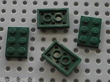 4 x LEGO DkGreen plate 2x3 ref 3021 / Set 10226 9472 10242 10236 75141 7782 ...