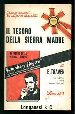 TRAVEN B. IL TESORO DELLA SIERRA MADRE ROMANZO LONGANESI 1965 I LIBRI POCKET 9