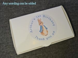 PERSONALISED CAKE BOX BOXES BIRTHDAY PARTY CHRISTENING BABY SHOWER PETER RABBIT