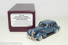 . BROOKLIN B.C.006 BUICK SPECIAL PLAIN BACK 4-DOOR SEDAN 1937 BLUE MINT BOXED