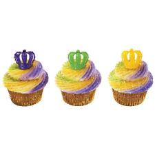 New Mardi Gras Crown Cupcake Rings One Dozen