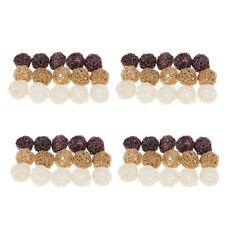 60Pcs Handmade Wicker Rattan Balls,Home,Wedding,Party Decoration Ball Crafts New
