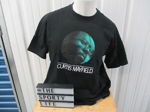 VINTAGE SUPREME X CURTIS MAYFIELD SUPERFLY BLACK XL T-SHIRT S/S 2011 PREOWNED