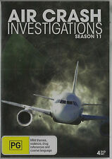 AIR CRASH INVESTIGATIONS SEASON 11 NEW, BUT UNSEALED 4 DVD SET All Regions PAL