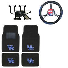 New NCAA Kentucky Wildcats Car Truck Floor Mats Steering Wheel Cover & Emblem