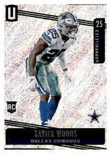 2019 Unparalleled Xavier Woods NFL Insert Rookie RC PWE Foil Cowboys #113