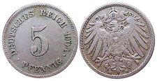 J 12   5 Pfennig KAISERREICH 1904 E in SS+  502914