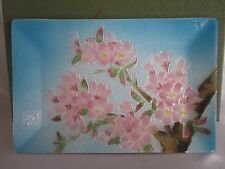 Signed Japanese Wireless Cloisonne Tray In Box