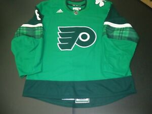 Philadelphia Flyers signed game worn 2021 St. Patrick's Day jersey HAGG Meigray