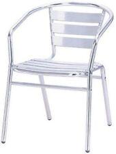Chaises Chaise en aluminium Avec Accoudoirs Empilable Pièces 2 Modèle Bar