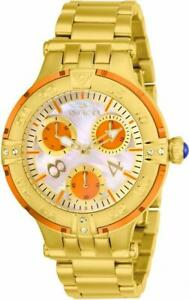 Invicta Subaqua 26144 Womens Round Analog Oyster Crystal Multi-Dial Orange Watch