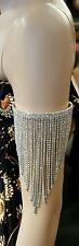 Silver UpperArm Cuff Scroll Filigree Coin Gypsy Chain Bracelet Armband Armlet Uk