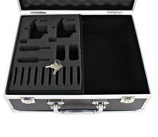 NEW Black Lightweight Aluminum Tattoo Kit Carry Case Holder Supply Storage Lock