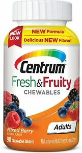 Mixed berry Centrum Chewable Multivitamins, 90 tablets