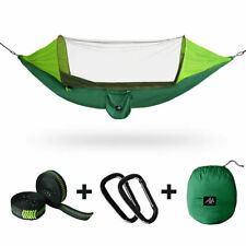 New listing Camping Hammock Tent Mosquito Net Set 2 Person Sun Cover Rainproof Hanging Bed
