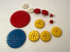 12 Vintage Lego Gears Building Toys Pieces Samsonite Moving Gear Assorted Lot