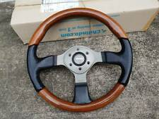 Rare momo wood leather STEERING WHEEL BENZ BMW HONDA Masda toyota alfa vw