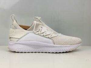 Puma Tsugi Jun Mens White Knit Fabric Trainers UK Size 9.5