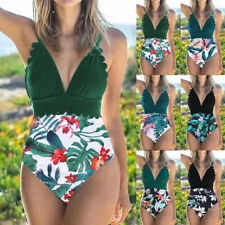 Women's Tummy Control Swimming Costume Swimwear Swimsuit Beachwear S~2XL