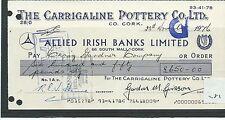 wbc. - CHEQUE - CH281 - USED -1970's - ALLIED IRISH BANKS, CORK - CARRIGALINE