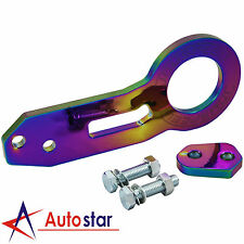 New Neo Chrome Universal Billet CNC Aluminum Racing Anodized Rear Towing Hook