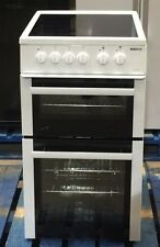 Beko Freestanding 50cm double oven electric cooker BDVC563A, A energy rating
