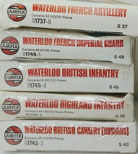 Airfix Waterloo British Infantry Artillery Cavalry Highland French Imperial HO